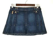 Dolce Gabbana D&G Jean Denim Mini Skirt A Line Logo Pocket Italy Sz S EU 40 US 4