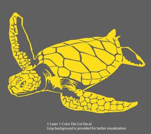 Sea life - Galapagos Ocean Turtle 1 Outdoor Window Decal Vinyl Sticker 6Yrs Film