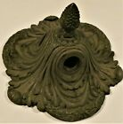 ⭐ 3-Light Flush Mount Bronze Antique Ceiling Fixture Possibly E F Caldwell