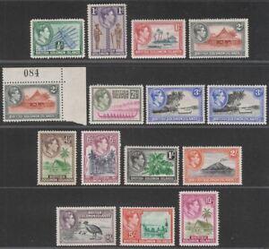 British Solomon Islands 1939 KGVI Set Mint SG60-72 cat £100