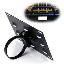 No Drill Required 3-Inch Bumper Guard Tube Mount License Plate Bracket/Holder (Fits: Subaru)
