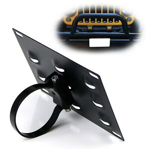 No Drill Required 3-Inch Bumper Guard Tube Mount License Plate Bracket/Holder