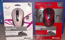 Microsoft Wireless Mobile Mouse 4000 ~ Ruby Red / Susan G Komen ~ YOU CHOOSE