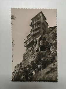 Spain Cuenca Houses Hanging Over Cliff Real Photo Postcard, S77107