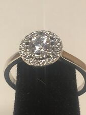 Engagement Ring Size 7 925 Sterling Silver Ladies Cz