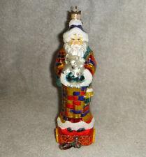 Neiman Marcus Glass Santa Claus Ornament 2009