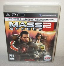 MASS EFFECT 2 Sealed New PlayStation 3 PS3 w/6+Hours Bonus Missions BioWare ARPG