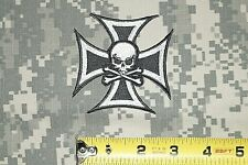 Patch Black Iron Cross with White Border and Skull Jacket Club Shirt