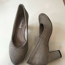 FELMINI Designer mink Suede Textured Portuguese Hand Crafted Court Shoes  37/4