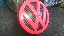 VOLKSWAGEN VW avvio Badge ROSA ROSSO CARBONIO GOLF MK4 POLO LUPO RAT LOOK DUB