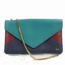 Chloe Tricolor Leather Chain Envelope Flap Bag 871267