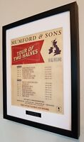 Mumford and Sons Framed Original NME Tour 2012 Plaque Certificate