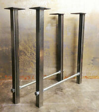 DIY Metal Table Legs Threaded Rod Handmade RAW set
