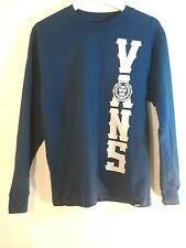 Vans Boys Junior Size XL Long Sleeve Logo T- shirt Blue & White Shelton Graphic