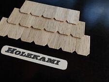 100 Dachschindeln Holzschindeln Eiche 50mm x 25mm x 1mm Neu