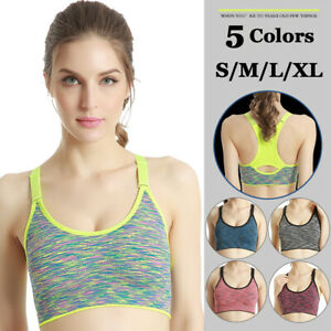 Womens Seamless Sports Yoga Bra Crop Tops Vest Workout Quick Dry Fitness Bras