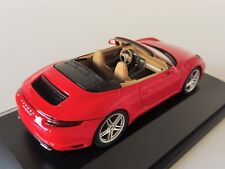 1 43 Herpa Porsche 911 (991) carrera 4 convertible red