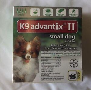 k9 Advantix ll small dog 4-10 lbs 4 pack EPA approvedproduct