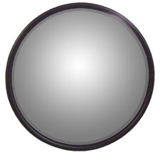 "Universal 8.5"" Round Mirror, Convex w/ L-Bracket for Offset Mounting, Stainless"