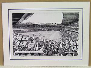 Totenham Hotspur- White Hart Lane. Limited Edition Stadium Print by Stuart Herd