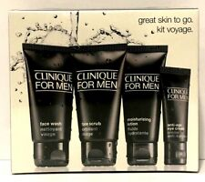 Clinique For Men Great Skin To Go 4 PC Normal to Dry Skin Anti-Age Eye Cream +