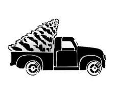 Christmas Truck Durable & Reusable Plastic Stencils 7x5