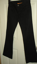 "TORI BURCH ""Classic Tory Jean"" Black Cotton Blend Pants Size 25 NWOT"