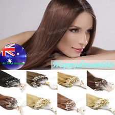 AU Stock Micro Rings Micro Beads Loop Tip Remy Human Hair Extensions 0.5g/s 100S