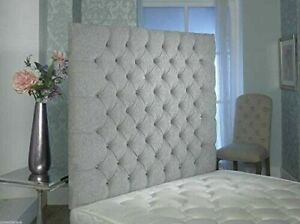 """NEW YORK WALL MOUNT 40""""  CHENILLE WALL Headboard with daimond  all colour"""