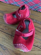 Umi Pearl Girls 6-12 Months Baby Shoes Pink Leather Uppers Euc