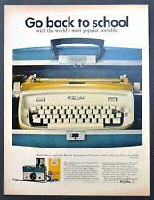 Royal Electric Typewriter PRINT AD - 1957 vintage original Go Back to School!