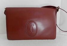Must De Cartier shoulder/hand Bag auth. vintage Bordeaux
