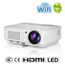 LED Android Wifi Projector Full HD 1080P TV Home Cinema HDMI USB Digital Zoom US