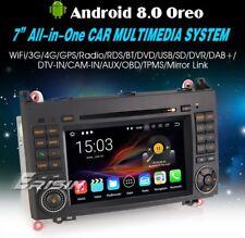 """AUTORADIO Android 8.0 7"""" Mercedes Classe A B  Navigatore Gps Comandi Volante 2GB"""