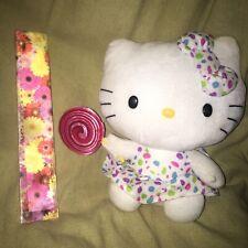 "TY Hello kitty  toy sanrio 2012 12"" dress lollipop  sucker candy Easter Plush X7"