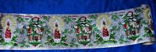 "1940s VTG XMAS PAPER 6 FT X 7 1/2"" BANNER WIDTH, LITHO OVR FOIL, REPEAT PATTERN"