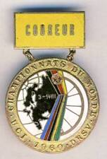 1960 UCI Road CYCLING World Championships COMPETITOR PIN badge EAST GERMANY