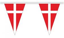 Denmark 5M Triangle Flag Bunting - 12 Flags - Triangular