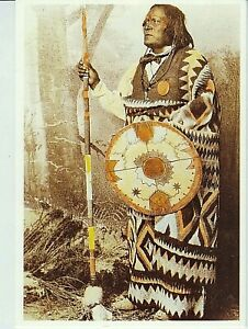 Native American Indian Man MESCALERO APACHE CHIEF by Wittick 1883 Photo POSTCARD