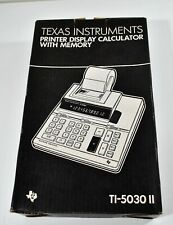 VTG Texas Instruments TI-5030II Calculator Orig Box Manual PRINTER NEEDS PARTS