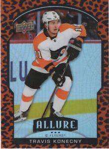 20-21 2020-21 UD Allure Travis Konecny LEOPARD INSERT #20-Flyers