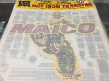 Vintage Maico Motorcycles Iron On Transfer by Rat's Hole Rats Daytona Beach