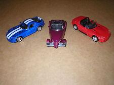 MAISTO LOT OF 3-DODGE VIPER GTS, RT/10 & PLYMOUTH PROWLER 1/39-1/38