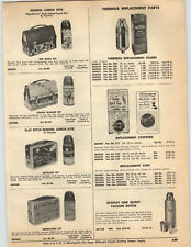 1959 PAPER AD Lunch Box Kit Thermos Red Barn Circus Wagon Satellite Americana