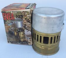 VINTAGE SVEA 123 Brass Hunting Camping Hiking Stove with Pot Key Chain & Box