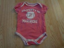 695d86b0958 Infant Baby Girls Seattle Mariners 6 9 Mo Creeper One-Piece (Pink