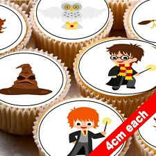 24 Comestible Cake Toppers Decoración Cartoon Harry Potter
