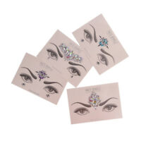 Crystal Temporary Eyes Tattoo Transfer Eyeshadow Eyeliner Face Stickers Hot