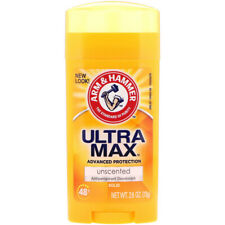 Arm & Hammer UltraMax Solid Antiperspirant Deodorant for Women, Unscented, 2.6oz