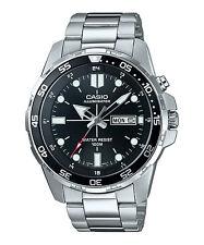 Casio Men's Silvertone Watch, Date, 100 Meter, Super Illuminator, MTD1079D-1AV